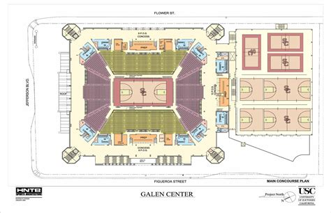 basketball arena floor plan usc galen center