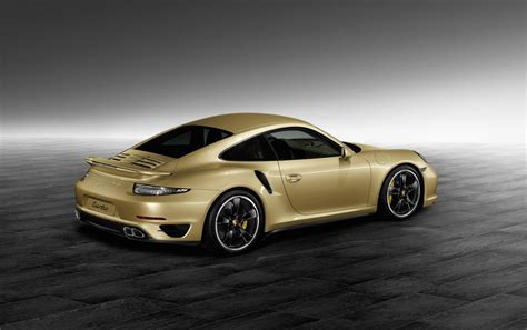 porsche gold 911 turbo by porsche exclusive puts on lime gold metallic