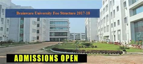 Mba Colleges In Adoni by Brainware Fee Structure Courses Fees 2018 19
