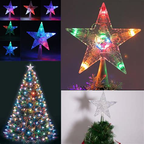 led christmas tree multi color changing topper color changing 30led twinkling treetop light up tree topper ebay