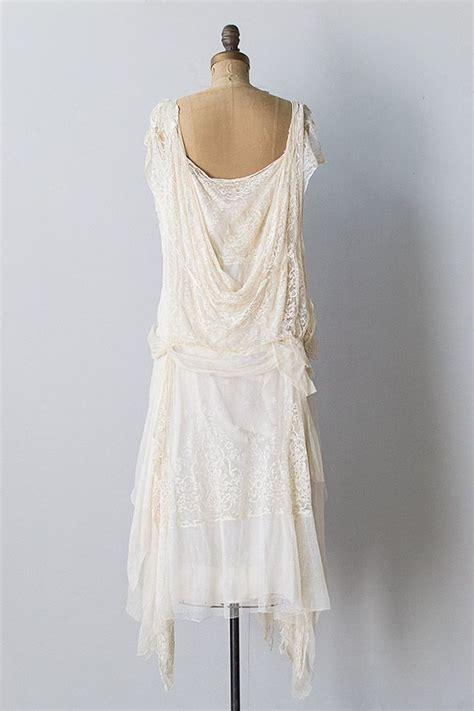 vintage clothing vintage  ivory silk lace