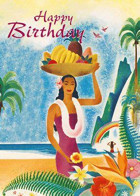 greeting cards hawaiian happy birthday hawaii glitter card ebay