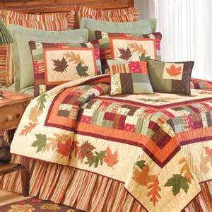 leaves quilt and bedding