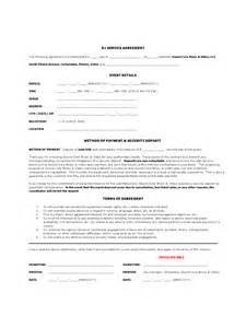 Dj Service Contract Template by Dj Contract Template 6 Free Templates In Pdf Word