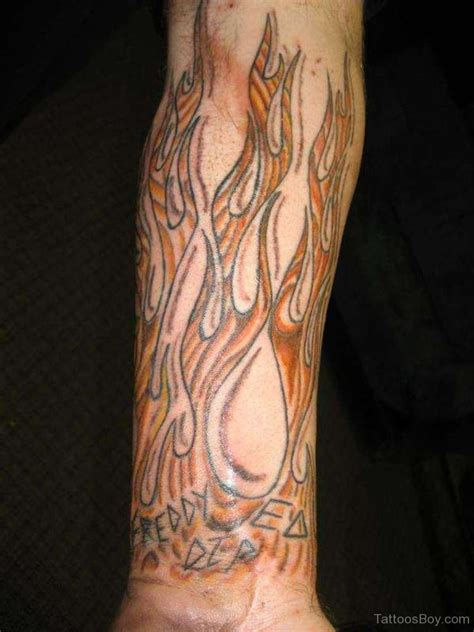 tattoo flames wrist tattoos designs pictures page 3