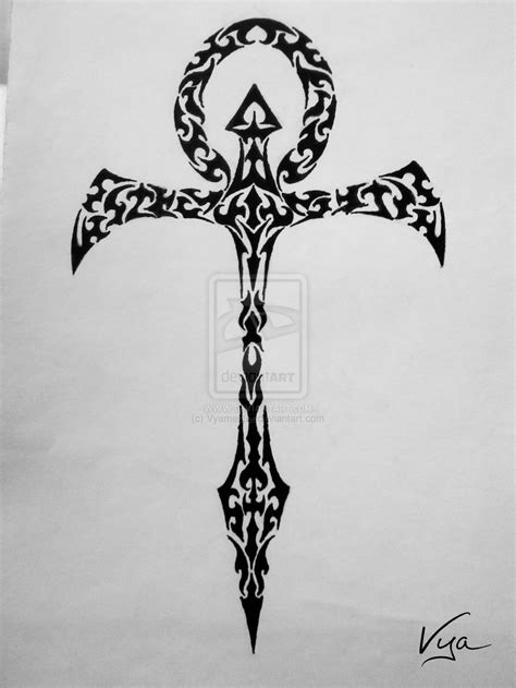 tribal ankh tattoo ankh tribal design by vyamester on deviantart