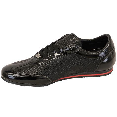 skin sneakers mens trainers sneakers lace up shoes patent suede look