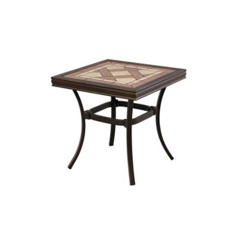 Tile Top Patio Table Hton Bay Pine Valley Tile Top Patio Side Table Apf05017k01 The Home Depot