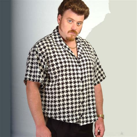 trailer park boys houndstooth black white shirt