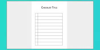 Templates For Ms Word by Your Free Microsoft Word Checklist Template