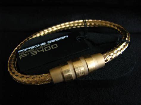 porsche design bracelet original porsche design bracelet groove gold 21 5 cm