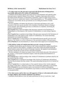 Articles And Essays by Articles Of Confederation Strengths And Weaknesses Essay