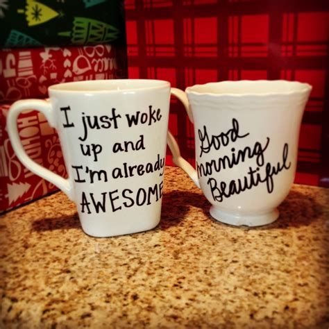 diy personalized mugs for gifts write your