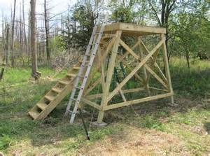 Deer Stand Stairs by Tower Deer Stand Project General Discussions Page 5