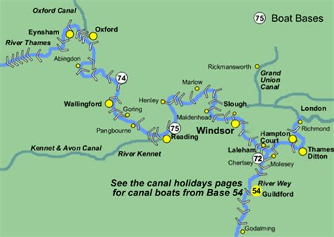 river thames full map boating holidays map of the royal river thames