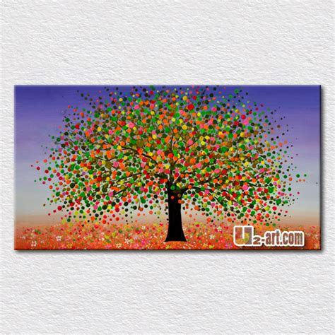 painting for small childrens colorful trees painting painted on canvas beautiful