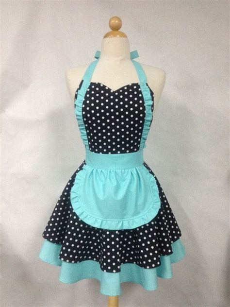 pattern for french maid apron french maid apron polka dot with aqua retro full apron
