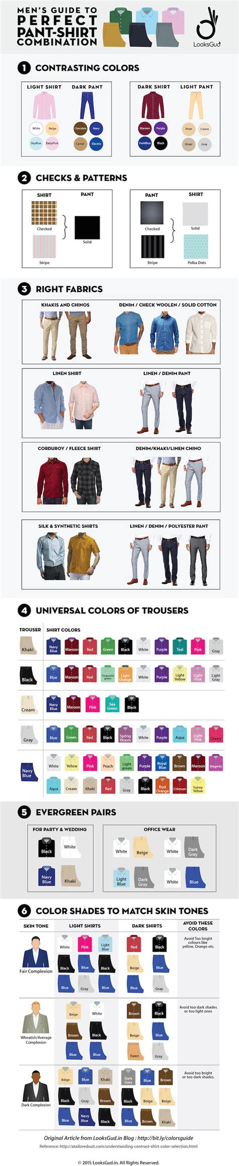 Tshirt Taxi One Groove Denim by Infographic S Wardrobe Guide To Pairing Shirts And