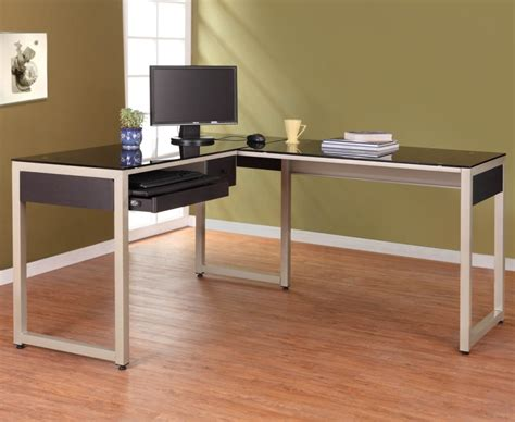 L Shaped Glass Desk Popular Glass L Shaped Desk Glass L Shaped Desk Style