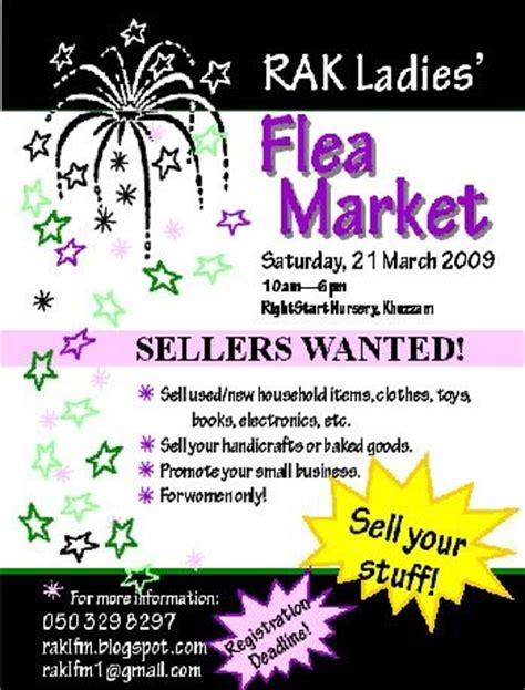 Rak Flyer rak flea market flyer