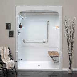 Bath And Shower Stall Bathroom Shower Stalls On Mirolin Barrier Free 1 Piece