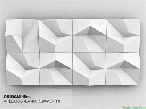 Origami Design Software - origami tiles v pleats breaking symmetry parametric