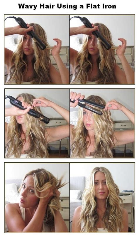 how to use straightner to get beach waves of shoulder length hair new short hair styles how to make wavy hair using a flat iron