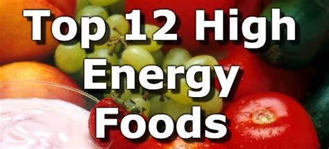 top 12 foods high in energy to keep you going through the day