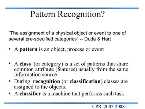 pattern classification in artificial intelligence pattern recognition
