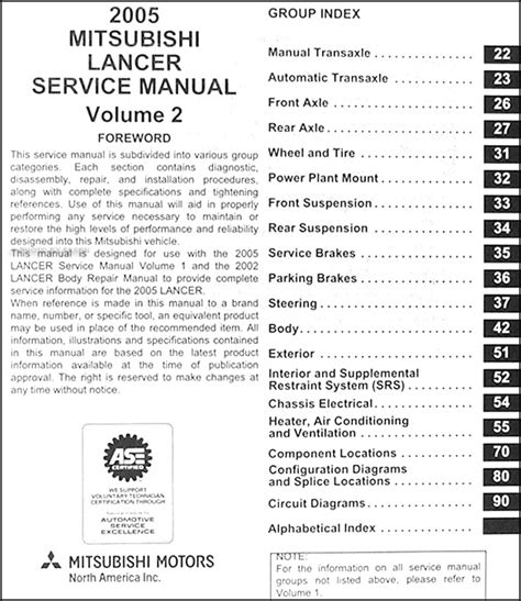 how to download repair manuals 2011 mitsubishi lancer evolution interior lighting 2005 mitsubishi lancer repair shop manual original 2 volume set