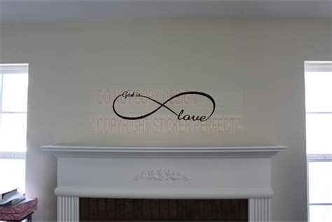 vinyl wall stickers quotes god is infinity symbol inspirational vinyl wall decal quotes sayings lettering