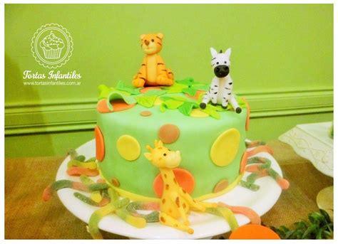 torta  animalitos de la selva cebra jirafa leopardo torta de animalitos pinterest
