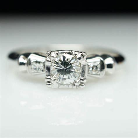 deco wedding ring set vintage deco engagement ring illusion set deco engagement dainty unique