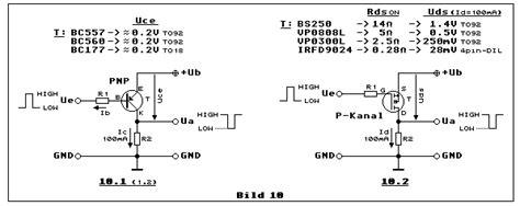 transistor mosfet bs250 schalten und steuern mit transistoren i bs170 bs250 bc547 bc560 schaltuhr modul sc 77 m sc77m