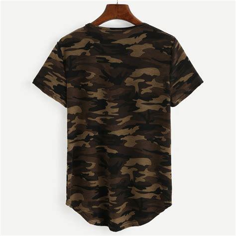 Camouflage Sleeve Shirt womens camouflage printed t shirts army sleeve camo