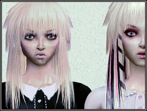 sims 2 emo hair mod the sims streaked natural hairs