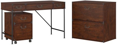 writing desk with file drawer ironworks coastal cherry 48 quot writing desk with 2 drawer