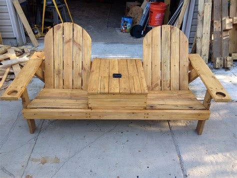 diy chair bench build a double chair bench with table diy projects for