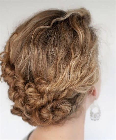 instructions on how to do a curly dressy chin lenght hairstyle 40 creative updos for curly hair