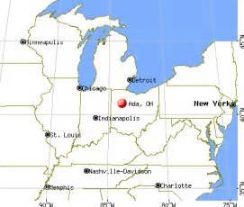 Ada Ohio Map by City Data Com