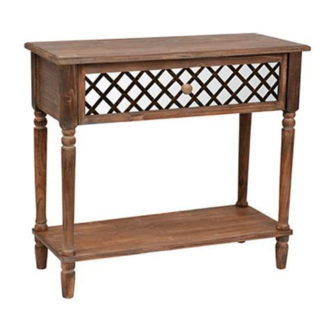 Kirklands Console Table Kirklands Rustic Mirrored Lattice Console Table Customer Reviews Product Reviews Read Top