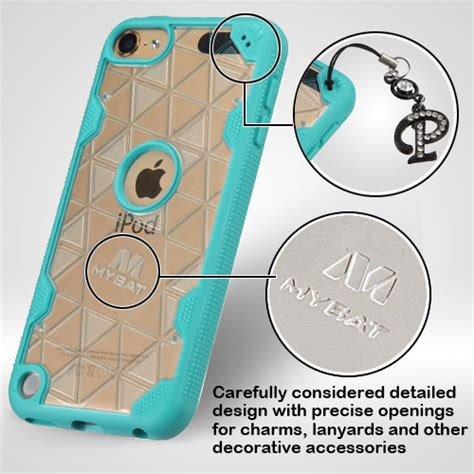 Return Board Spongebob Back Cover For Apple Ipod Touch 4 transparent clear tropical teal hybrid triangles