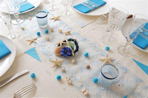 Decoration Table Mer d 233 corer sa table sur le th 232 me de la mer couteaux