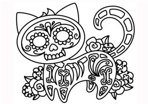 imagenes infantiles para colorear del dia de muertos 20 padr 237 simos mandalas de d 237 a de muertos para imprimir y