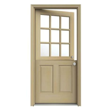 Interior Dutch Door Home Depot | jeld wen dutch hemlock 9 lite unfinished prehung front