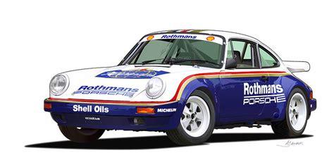Porsche 911 Sc Rs by 1984 Porsche 911 Sc Rs Illustration Digital Art By Alain Jamar