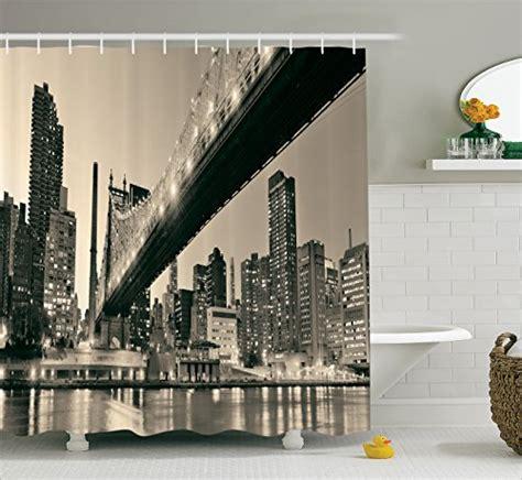 new york print curtains shower curtain queensboro bridge art print new york city