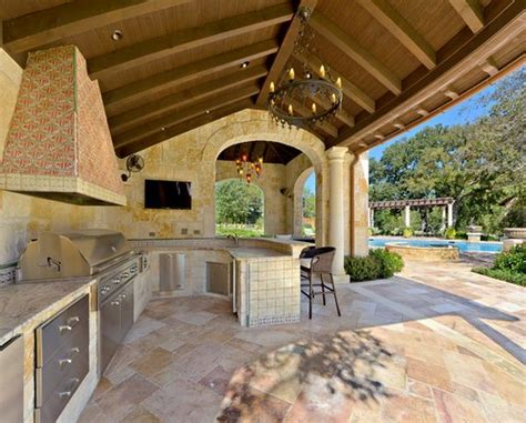 outside kitchen design ideas outdoor kitchen designs featuring pizza ovens fireplaces