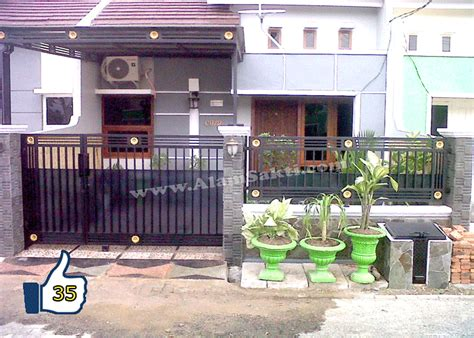 Fhasion Pagar 2 pagar rumah minimalis besi tempa alam sakti contoh gambar rumah
