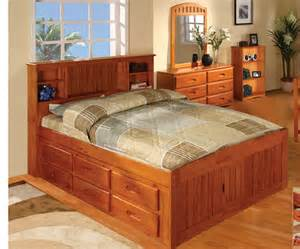 Solid Wood Bed Frame Twin Ridgeline Full Size Bookcase Captains Bed Bed Frames